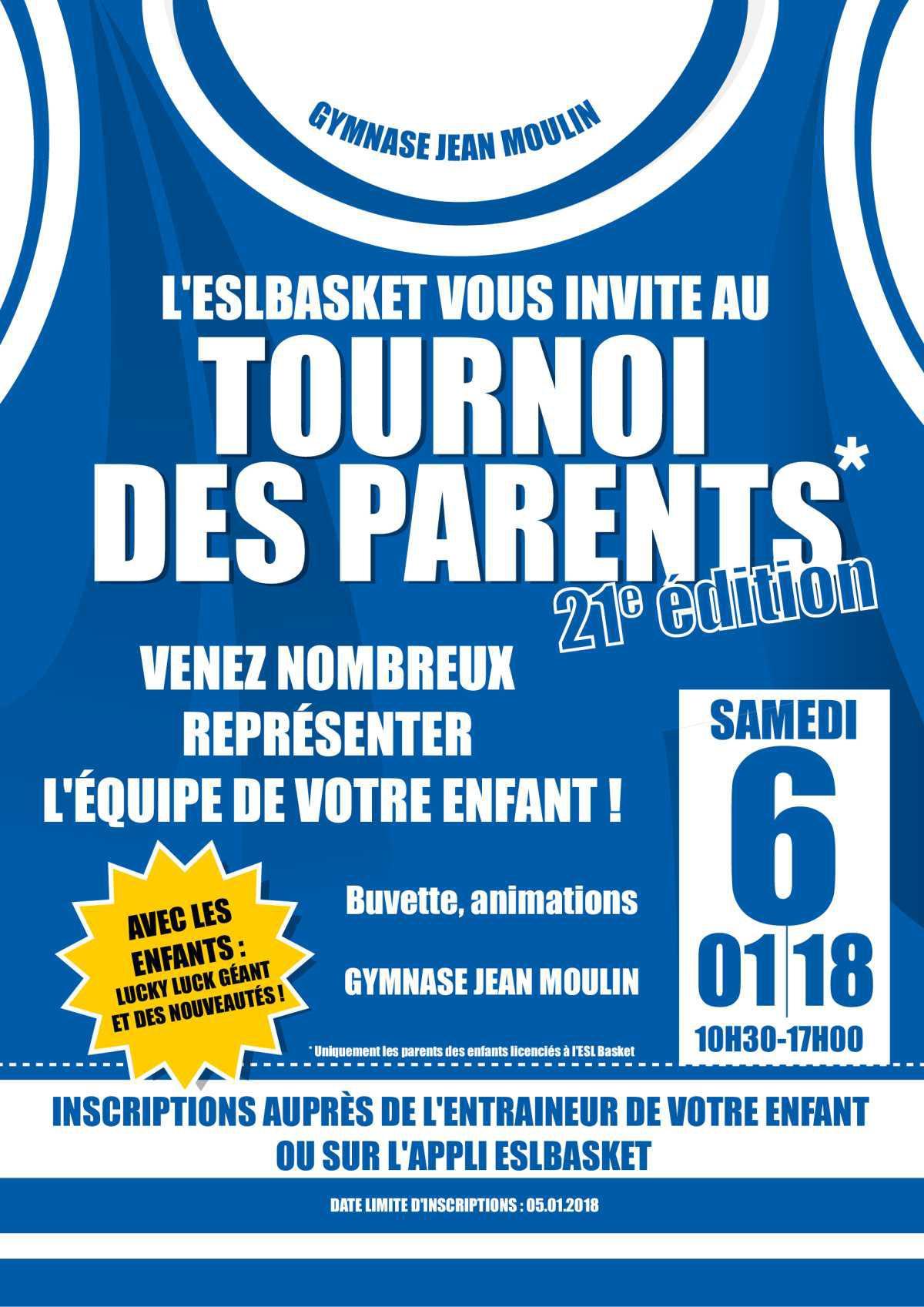 Le tournoi des parents, c'est cette semaine !