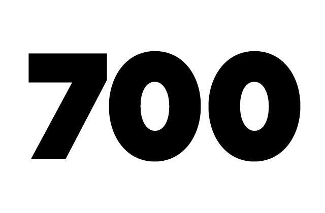 Vous êtes 700 !