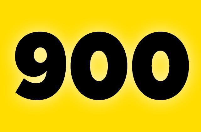 900 !!