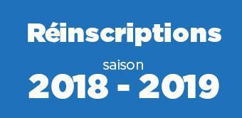 Réinscriptions 2018-2019
