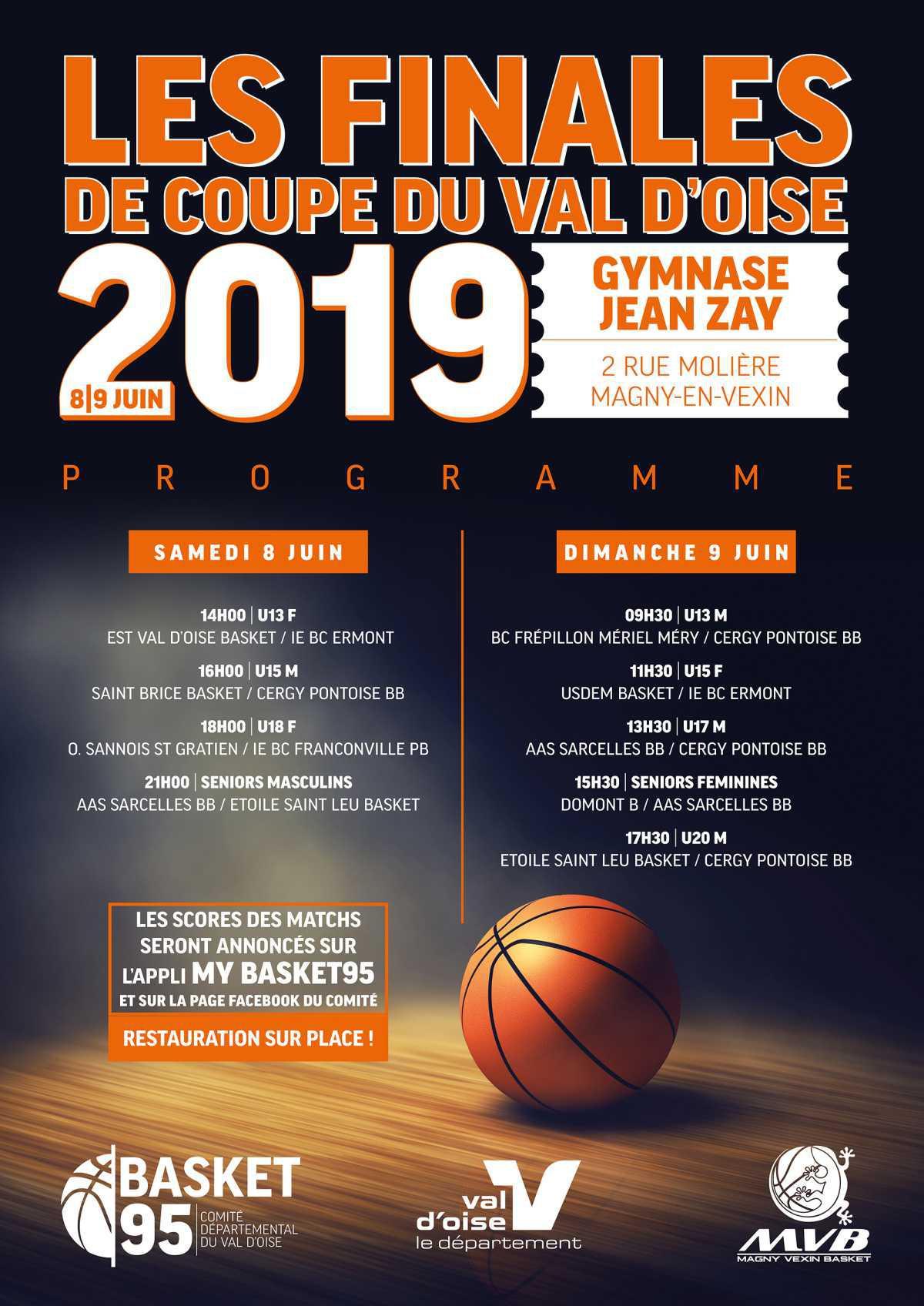 Programme des finales de la Coupe du Val d'Oise !