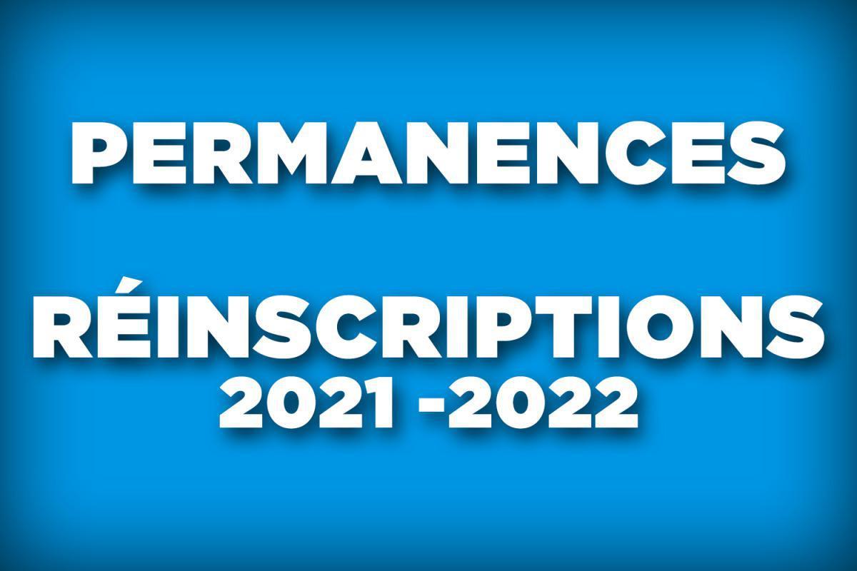 Permanences réinscriptions