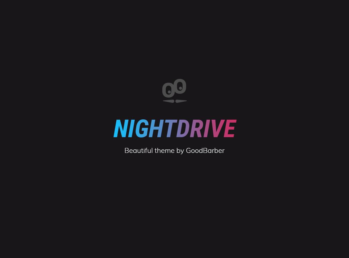 Nuovi temi GoodBarber 4.0: Nightdrive