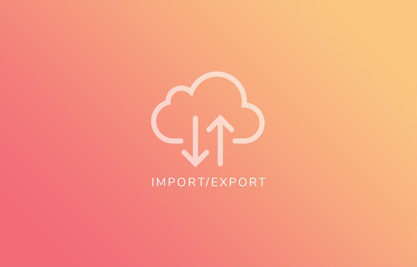 Importa / esporta il tuo catalogo di prodotti