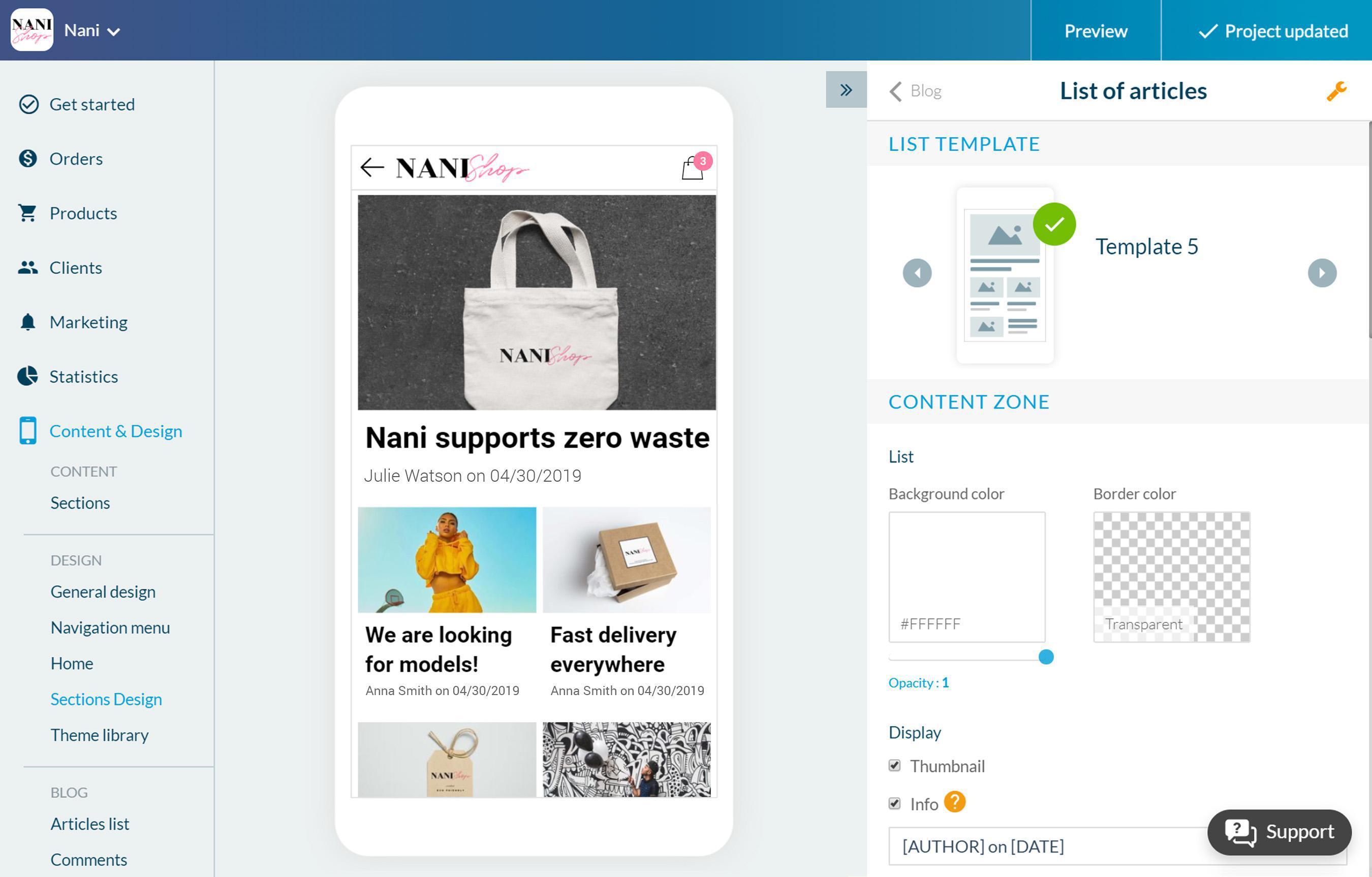 Migliora la tua Shopping app con un blog
