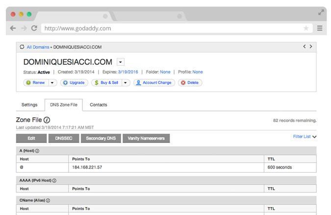 Come creare un CNAME record per collegare la tua WebApp HTML5 al tuo dominio
