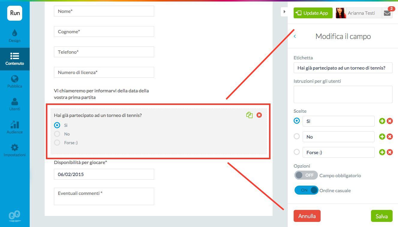Come inserire un modulo/formulario all'interno della tua app
