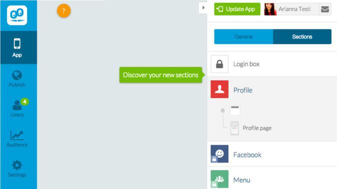 Abilita In-App, il nuovo login per autenticare l'utente di GoodBarber