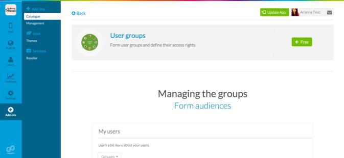 """Rinforza le features social della tua applicazione con il nuovo add-on """"Gruppi di utenti"""""""