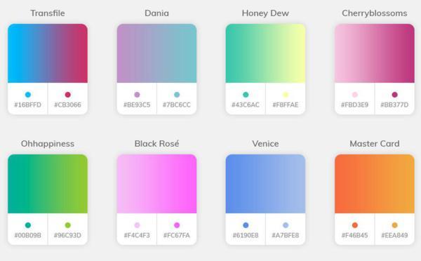 Il gradiente di colore