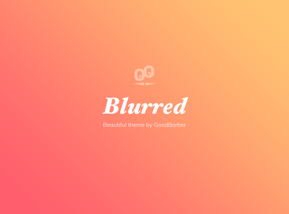 Nuevo tema GoodBarber 4.0: Blurred