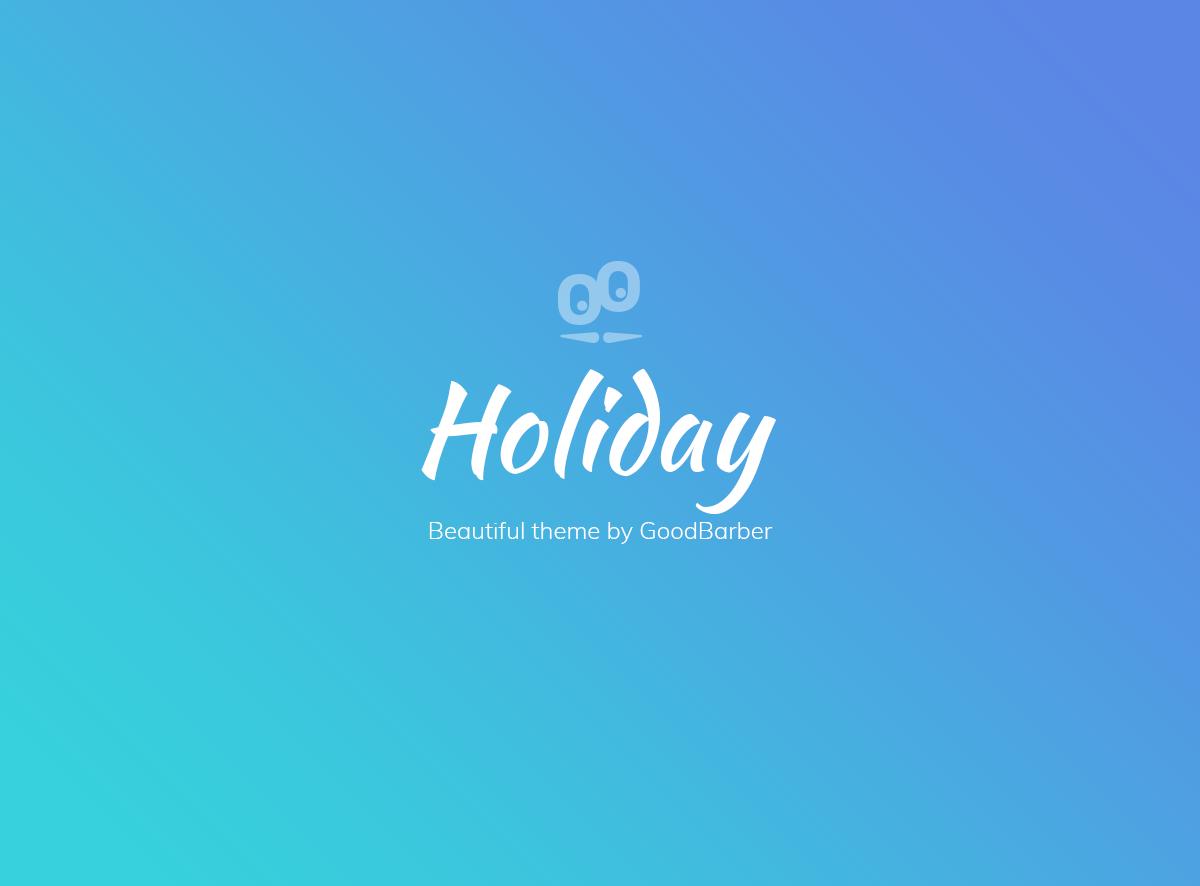 Nuevo tema GoodBarber 4.0: Holidays