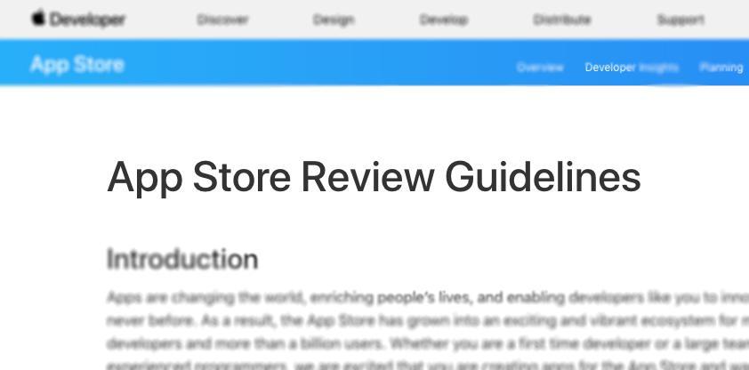 La directriz 4.2.6 de la App Store y los constructores de apps