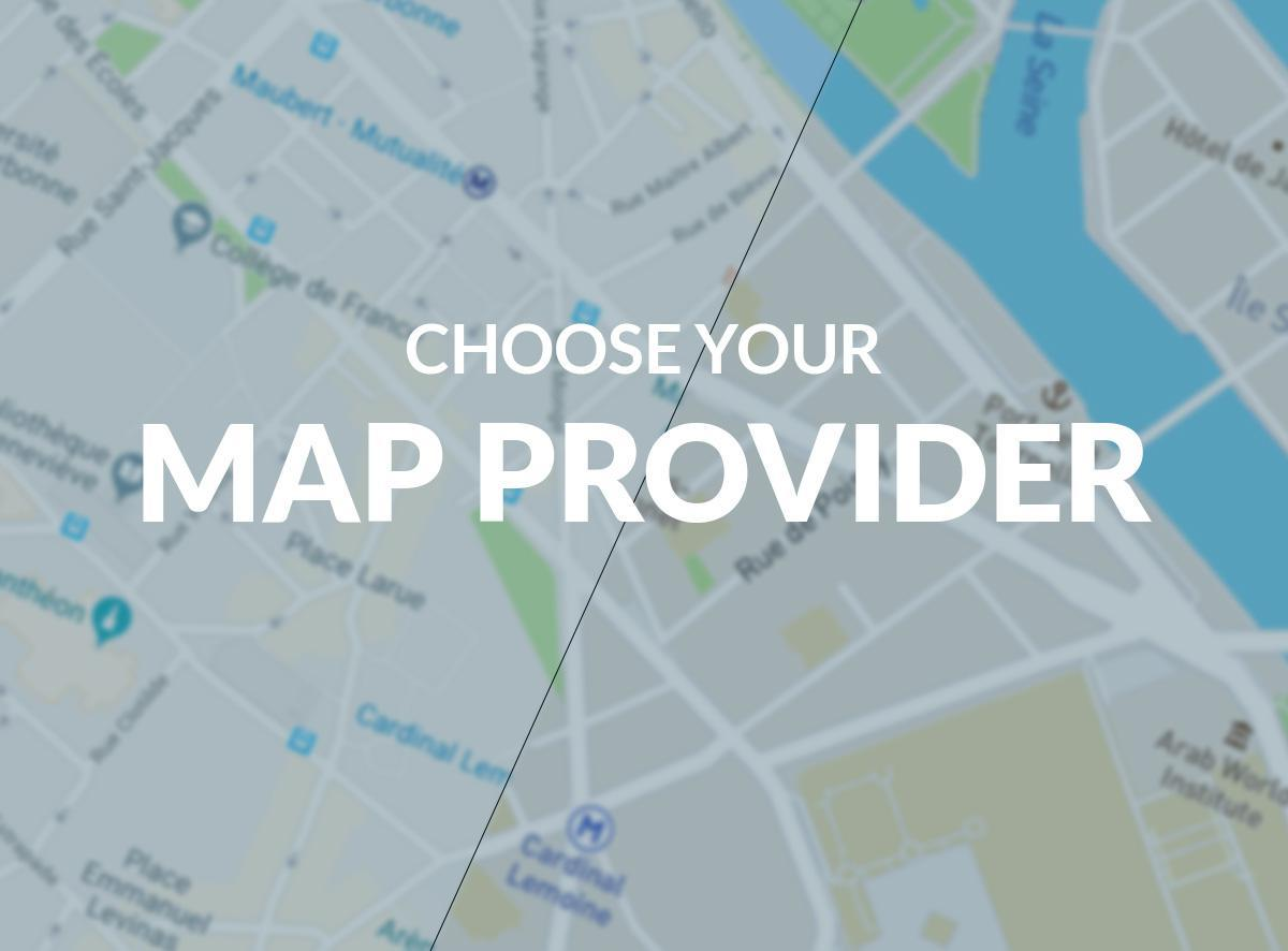 Administración de mapas en PWA: elija su proveedor