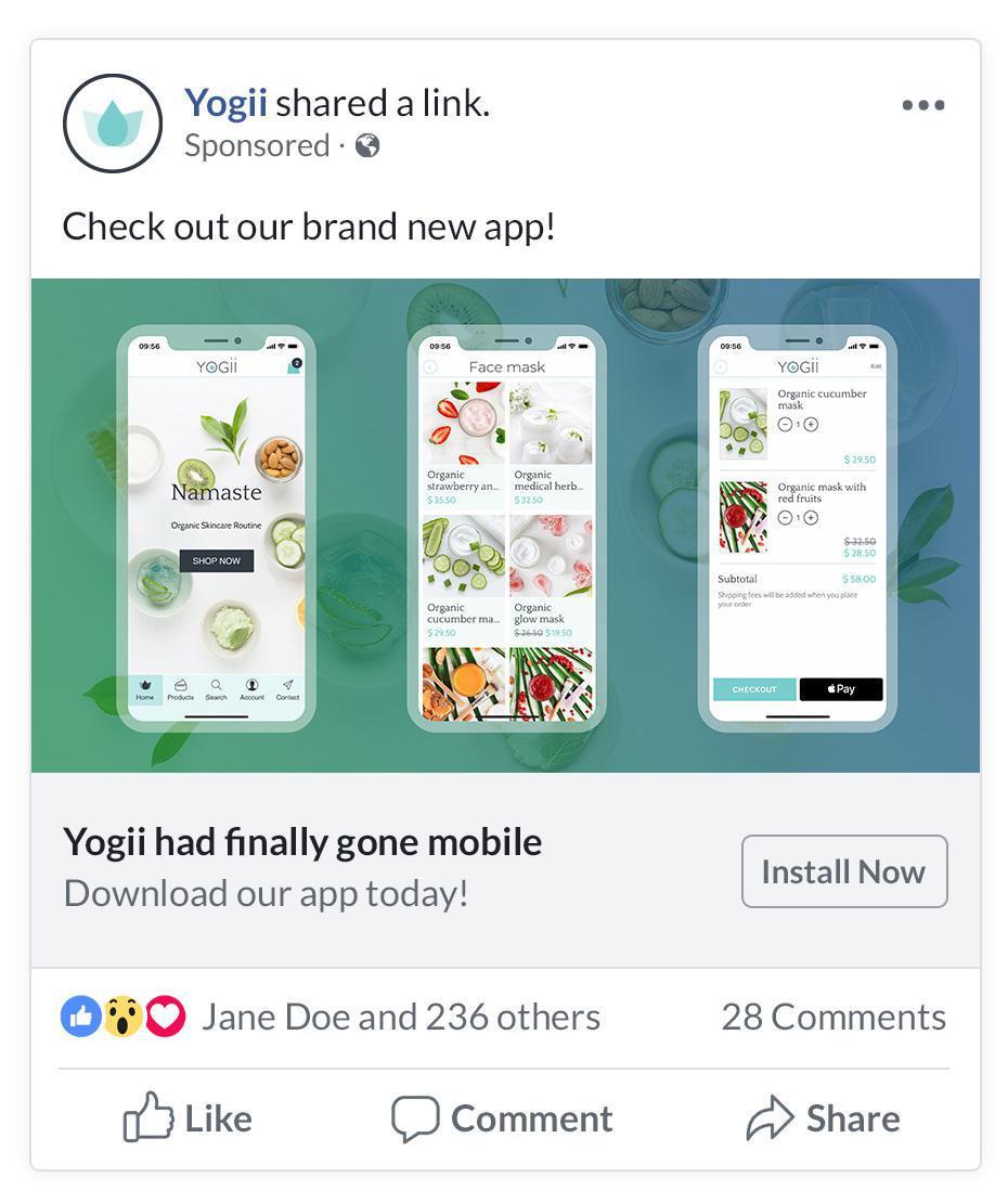 Aumenta tus descargas con Facebook Install Ads