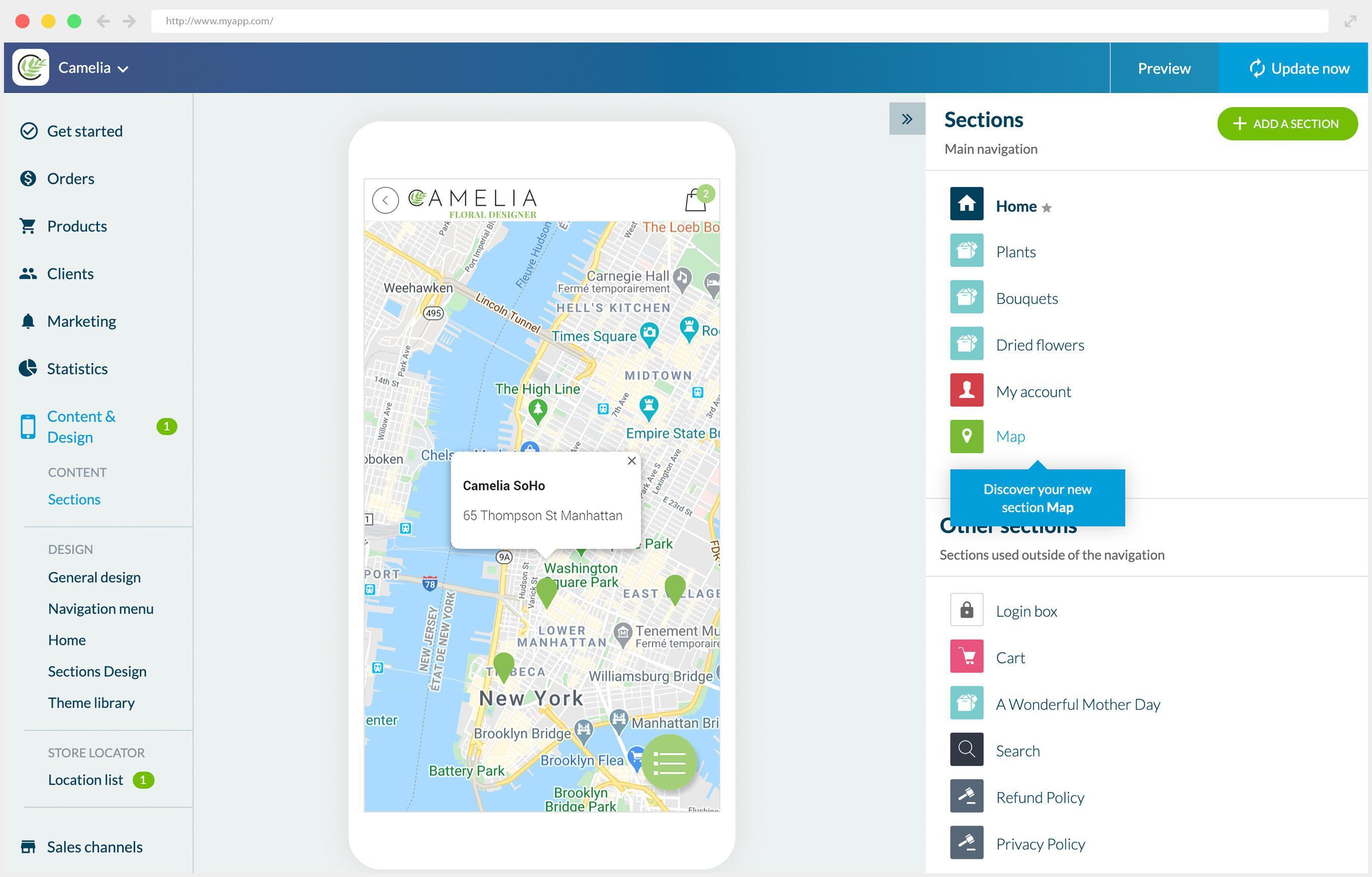 Localizador de tiendas ahora disponible en tu Shopping App