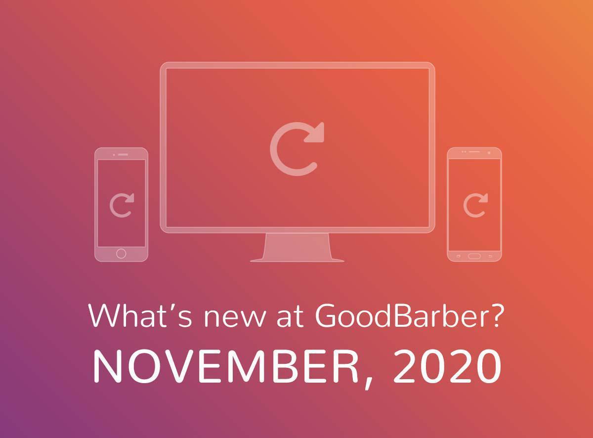 ¿Qué hay de nuevo en GoodBarber? Noviembre de 2020