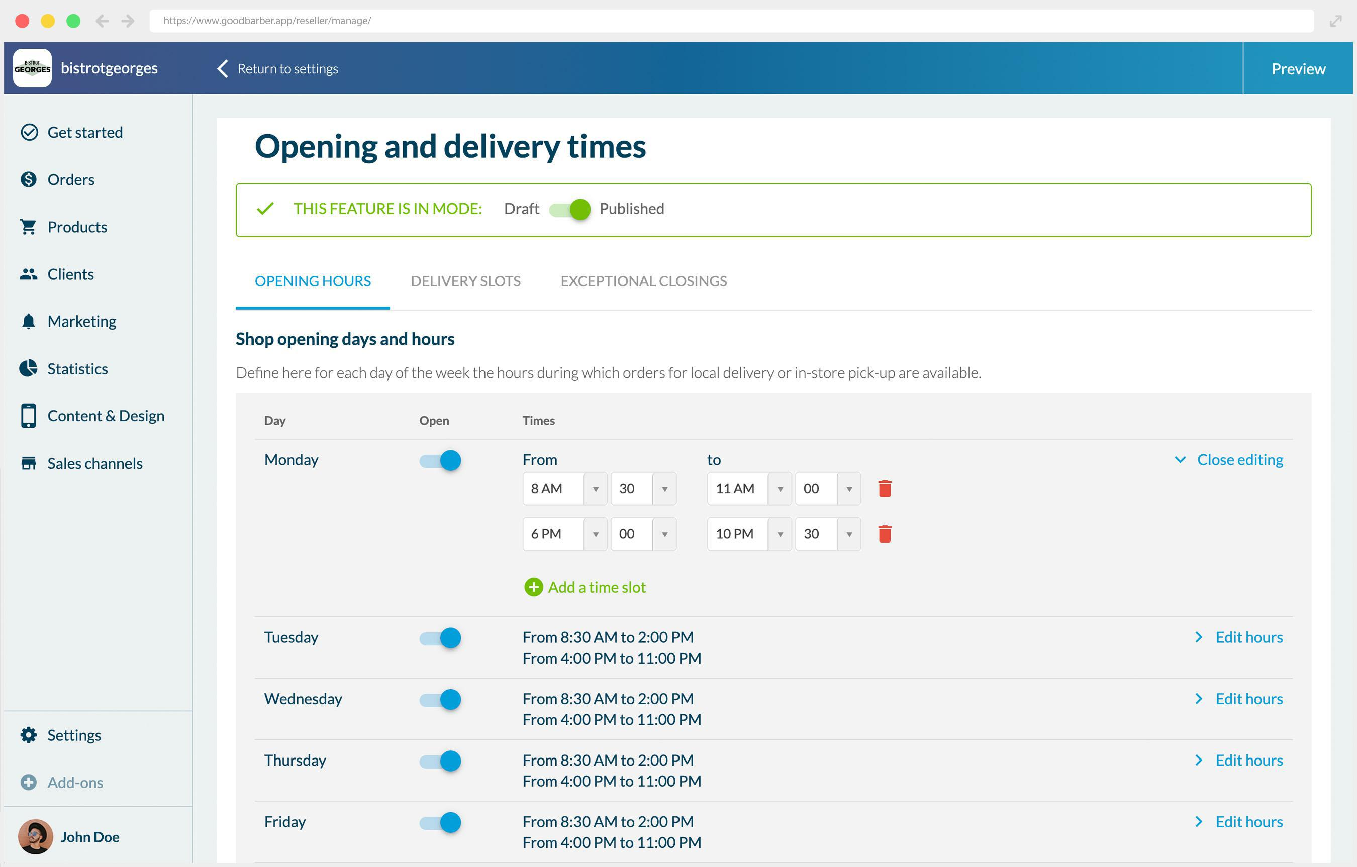 Cómo configurar tu add-on Franjas Horarias disponible en tu aplicación Shopping