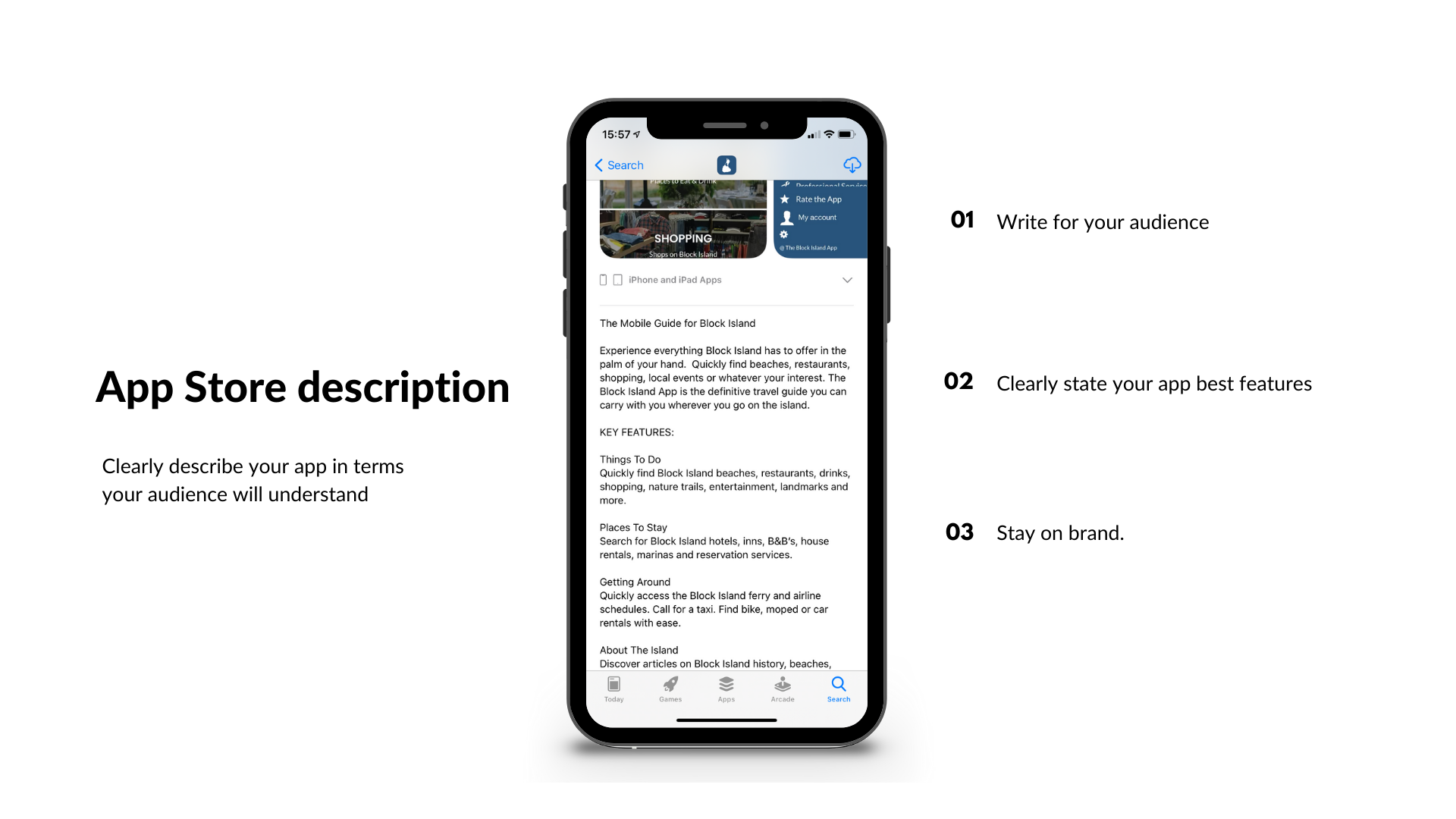 Cómo escribir una ficha atractiva para App Store