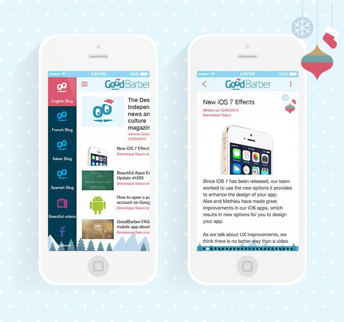 ¡La magia de la Navidad en tu app!