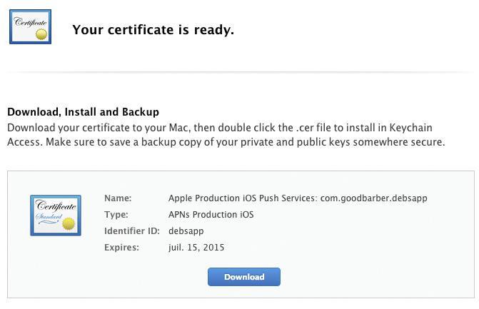 ¿Qué certificados iOS necesito para construir y publicar mi app?