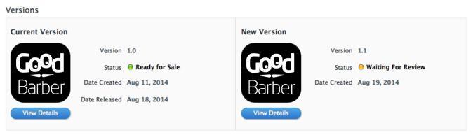 Actualiza tu App GoodBarber