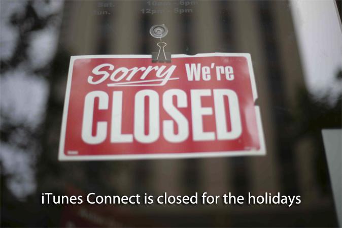 iTunes Connect estará cerrado esta Navidad