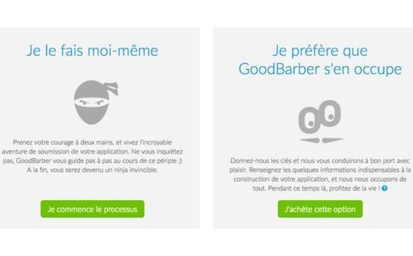 El nuevo servicio de GoodBarber se hace cargo