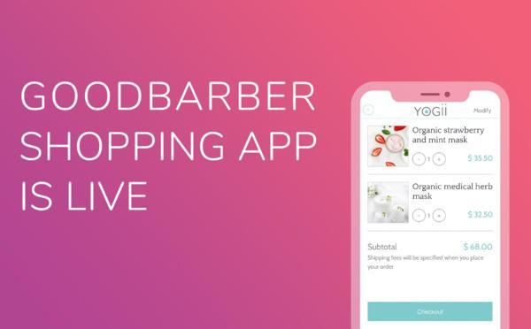 La aplicación GoodBarber Shopping ha llegado!