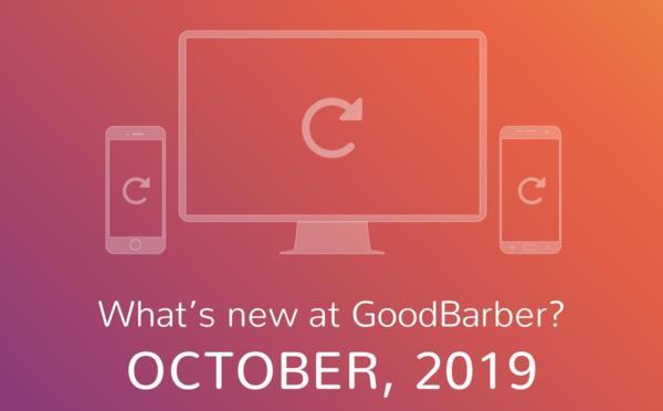 ¿Qué hay de nuevo en GoodBarber? Octubre de 2019
