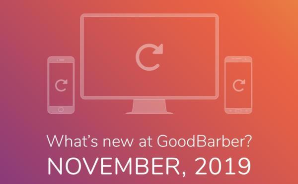 ¿Qué hay de nuevo en GoodBarber? Noviembre 2019