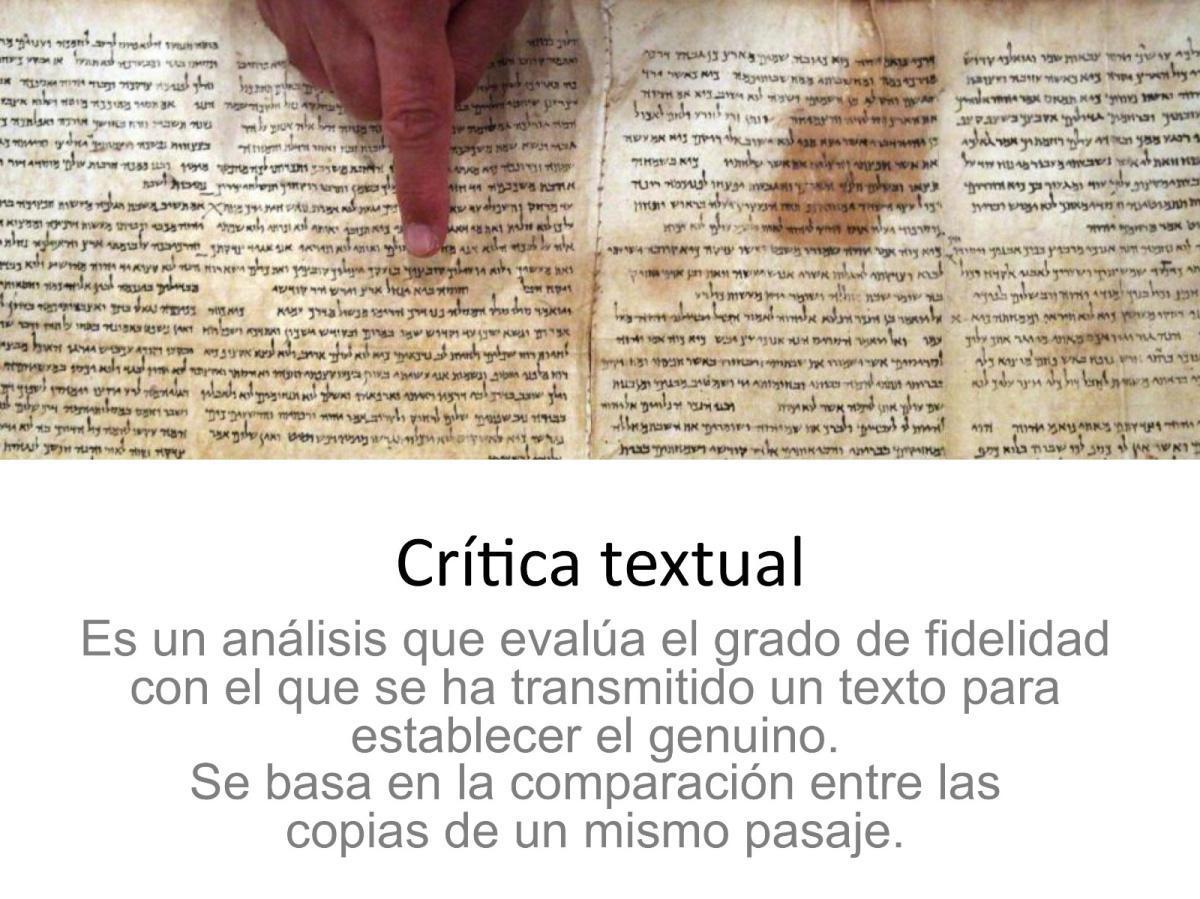 Crítica Textual