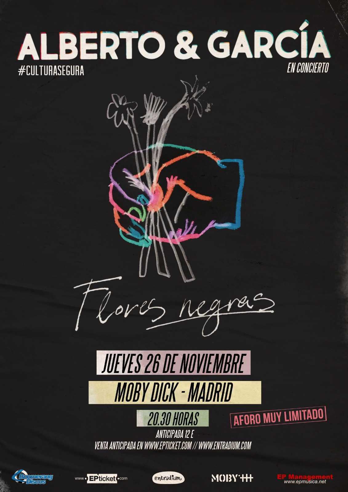 """ALBERTO & GARCÍA presentan """"Flores Negras"""" en MOBY"""