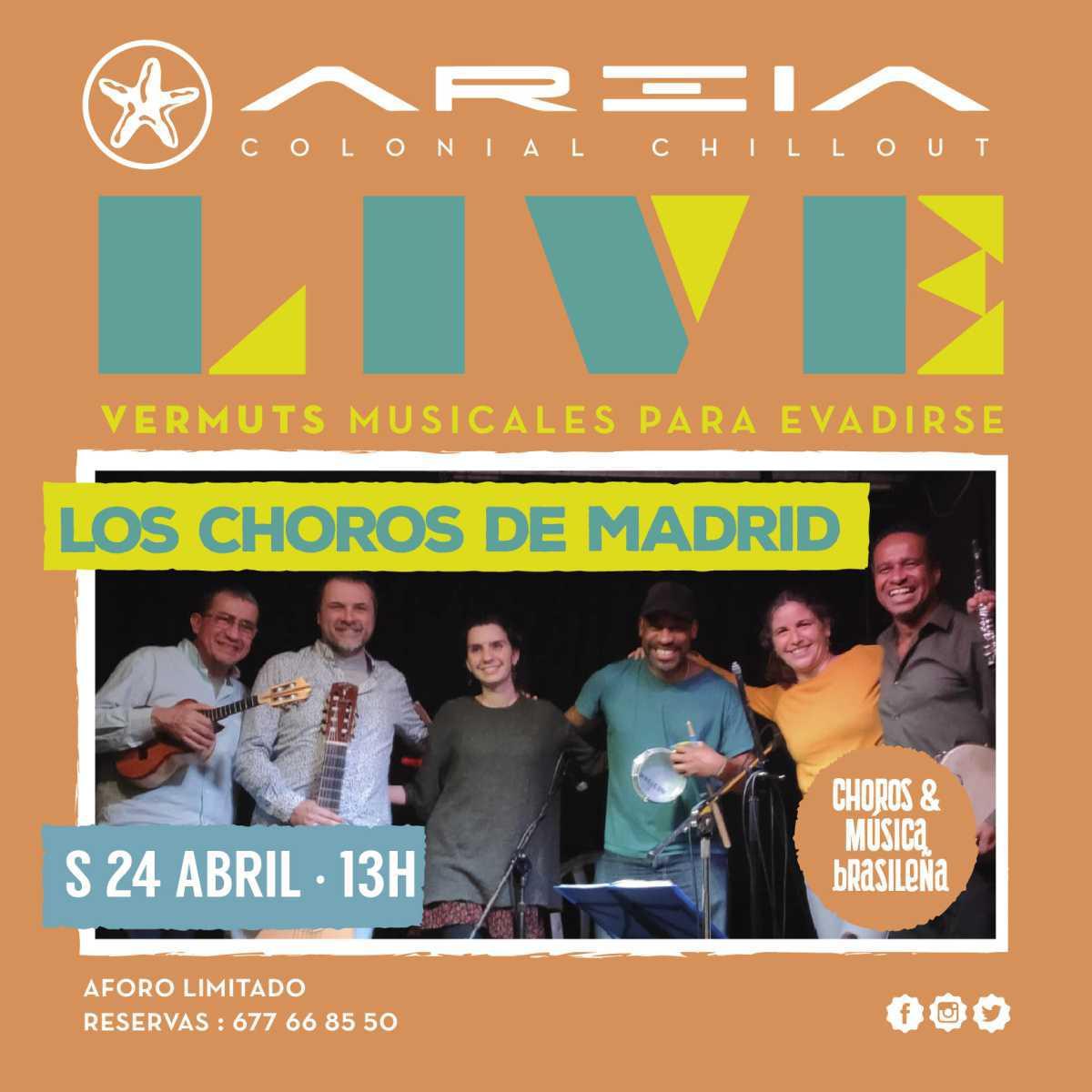 Areia Live presenta LOS CHOROS DE MADRID – choros & música brasileña