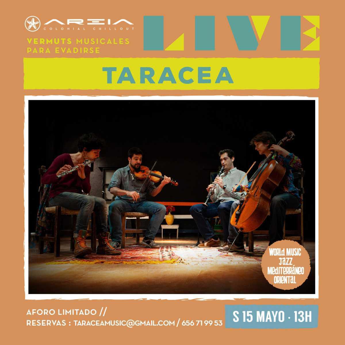 Areia Live presenta TARACEA – world music / música de cámara