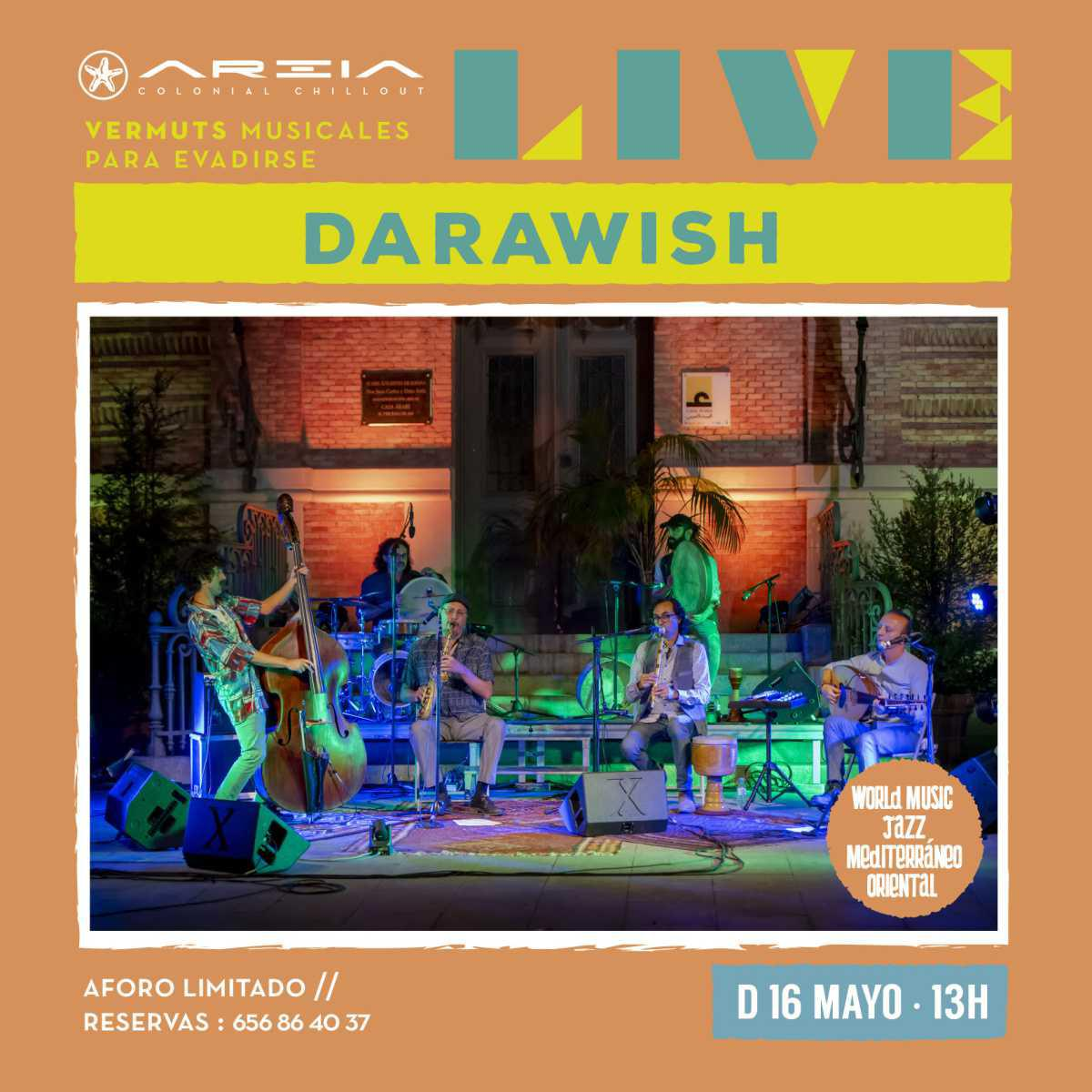 Areia Live presenta DARAWISH – world music / jazz mediterráneo oriental
