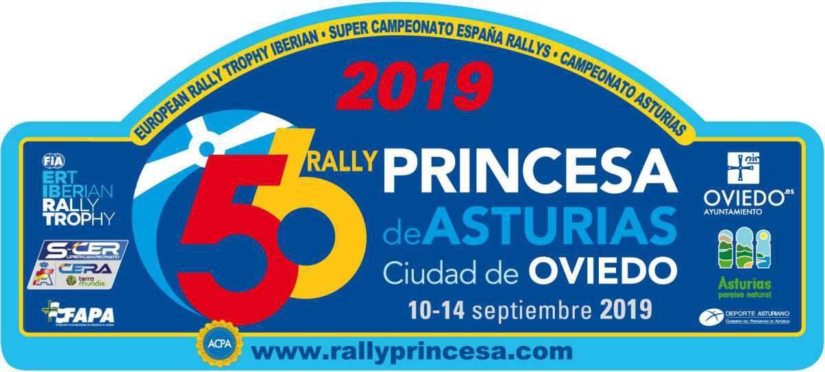 Placa Rally Princesa de Asturias 2019