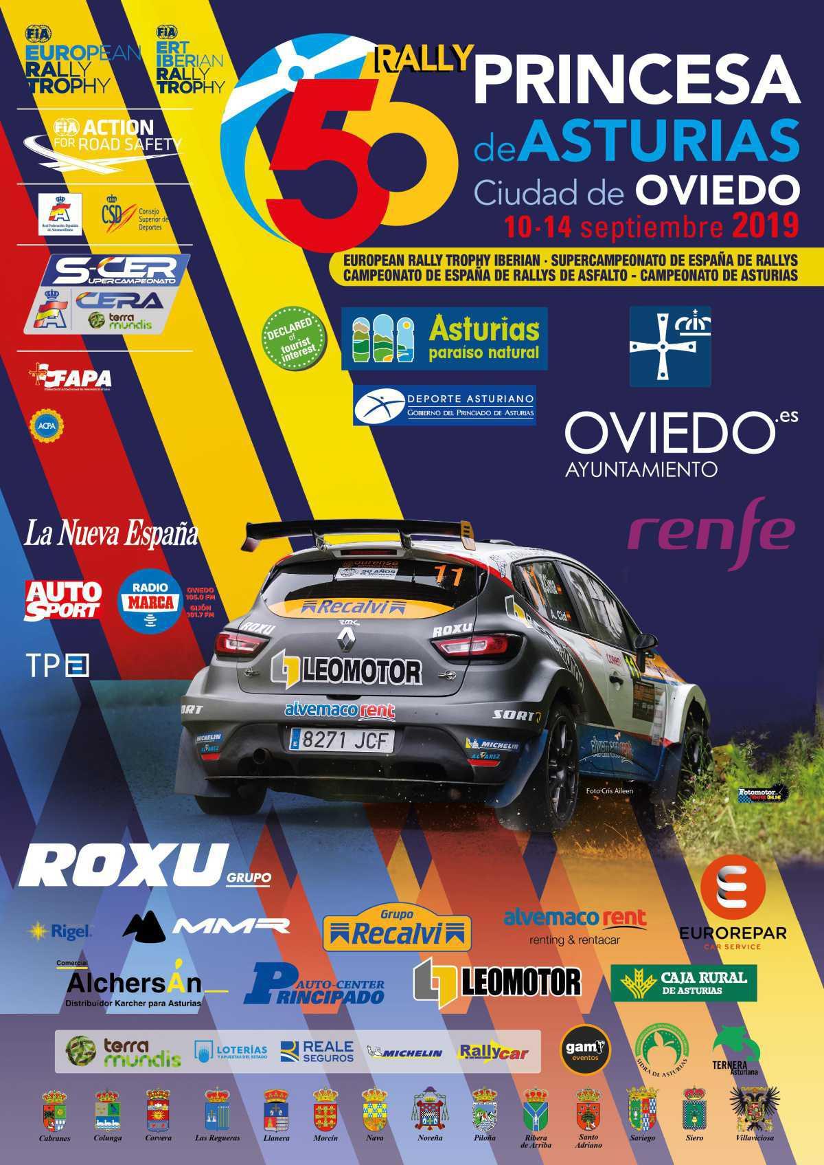 Cartel Oficial 56 Rally Princesa de Asturias - Ciudad de Oviedo