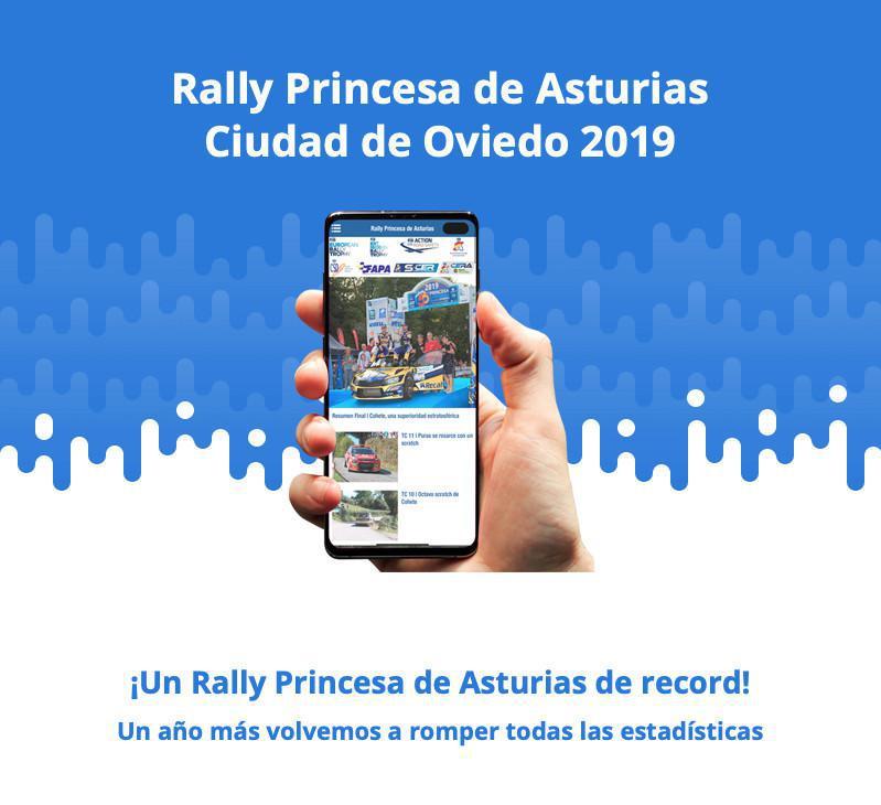 Cifras de éxito en la Web App y Redes Sociales del 56 Rally Princesa de Asturias-Ciudad de Oviedo.