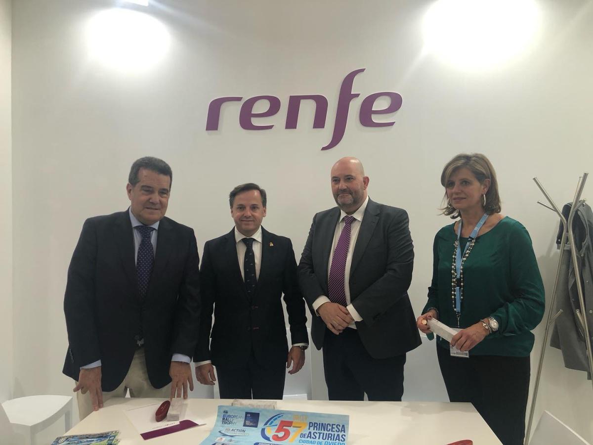 El Rally Princesa de Asturias Ciudad de Oviedo en FITUR. Firmado el convenio 2020 con RENFE.