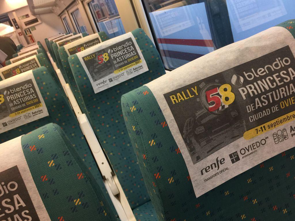 Renfe promociona el Rally Blendio Princesa de Asturias en sus trenes