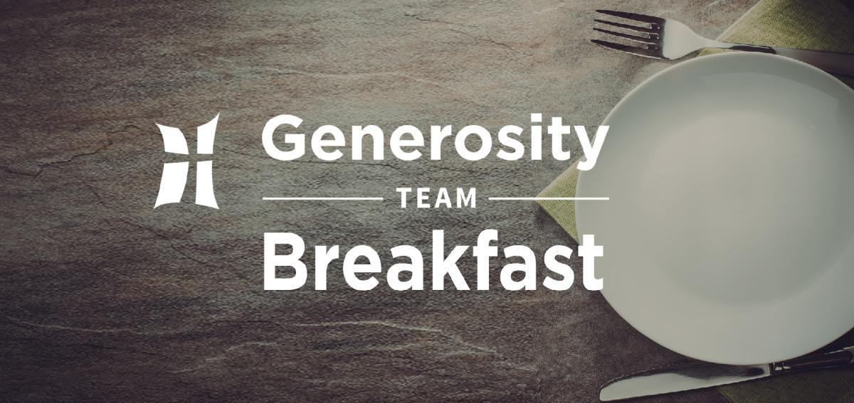 Generosity Team Breakfast