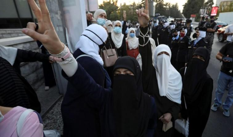 اعتصام قرب سفارة فرنسا في عمان تنديدا بمواقف ماكرون