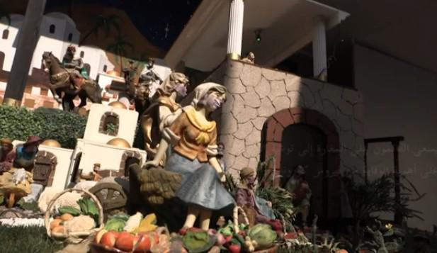 مغارة ميلادية في مكسيكو بنسخة خاصة بزمن كوفيد-19