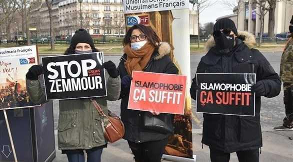 """تظاهرة في باريس ضد مشروع قانون """"الانفصالية"""""""