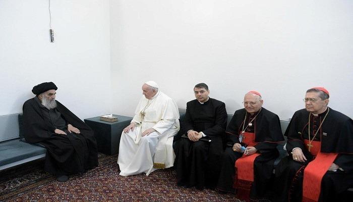 البابا يعقد لقاء تاريخيا مع السيستاني في النجف