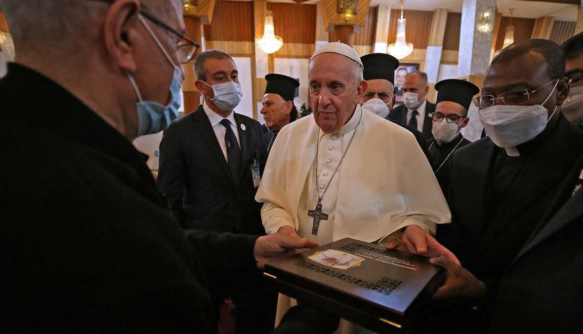 قطعة من العراق سترافق البابا فرنسيس إلى الفاتيكان