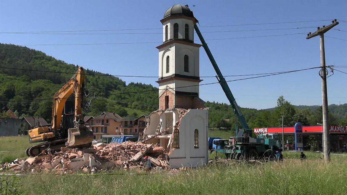البوسنة تهدم كنيسة بنيت قرب سريبرينيتسا