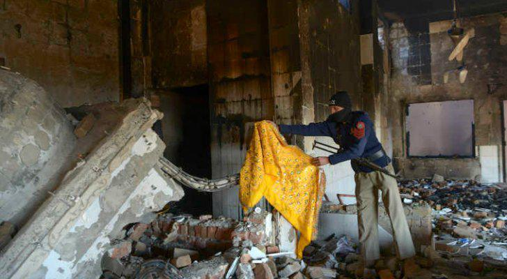 تخريب معبد هندوسي في وسط باكستان