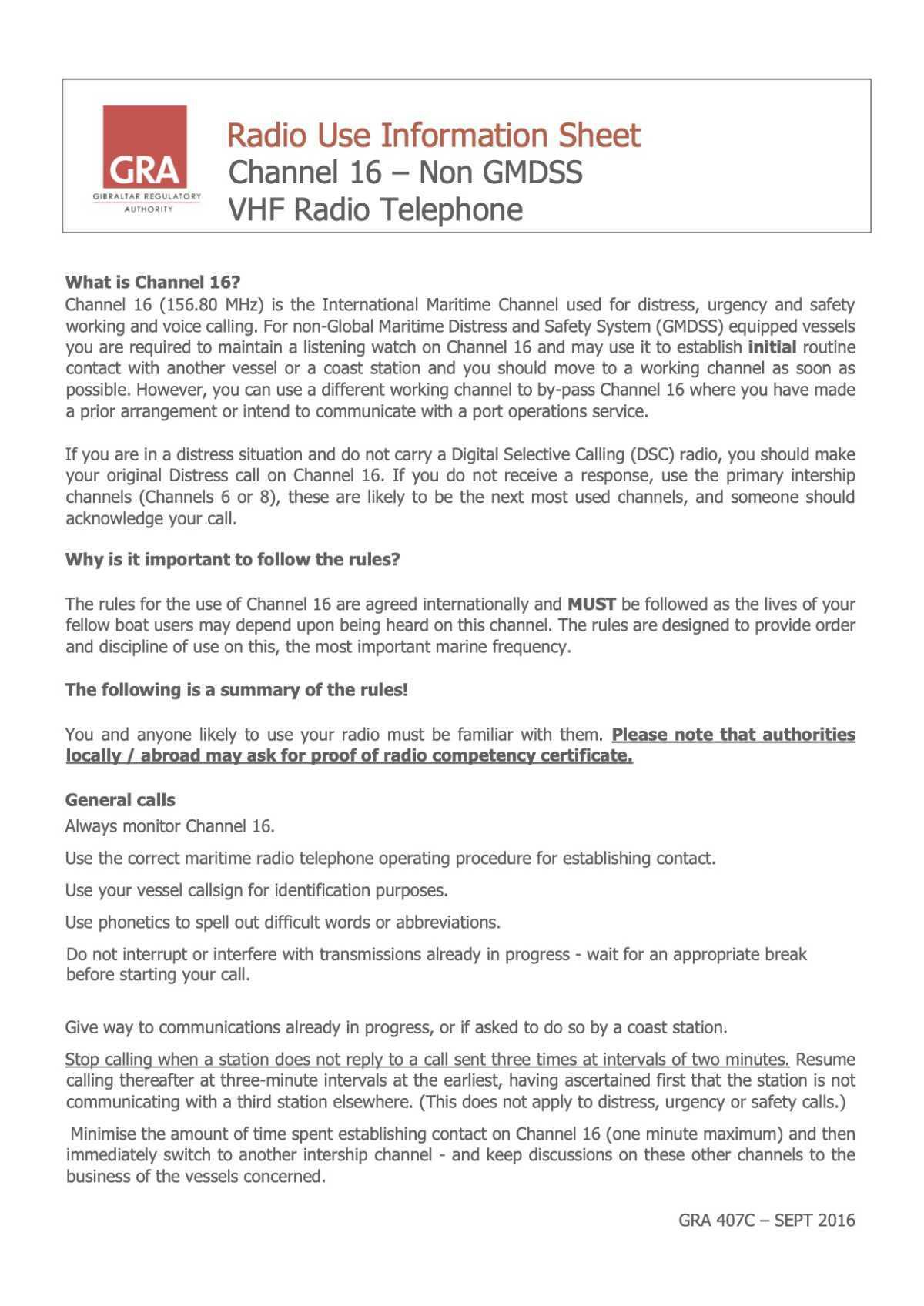 Radio Procedures